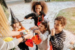 Children on Halloween